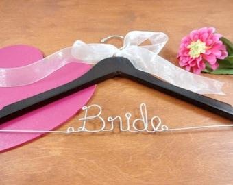 Bride Wire Hanger Bride Coat Hangers Bridal Hangers Wedding Dress Hangers Bridal Accessories Bridal Photo Props Personalized Hangers