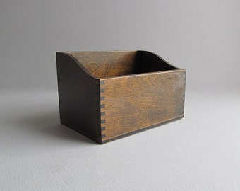 Vintage Wood Box Rustic Box Small Storage Box Supply Box Craft Box