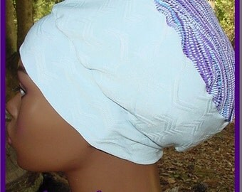 Natural Hair Accessories-Crown-Hat-Locs-Blue Purple-Wrap-Headwrap