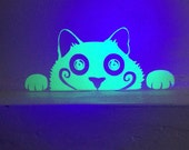 Glow-in-the-Dark Wall Vinyl Voyeur Cat Decal