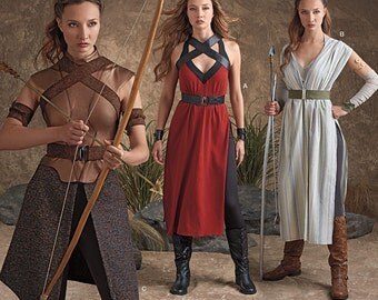 Diy Sewing Pattern-Simplicity 8074-Elf Costume Lord of the Rings, Ren Faire Plus Size