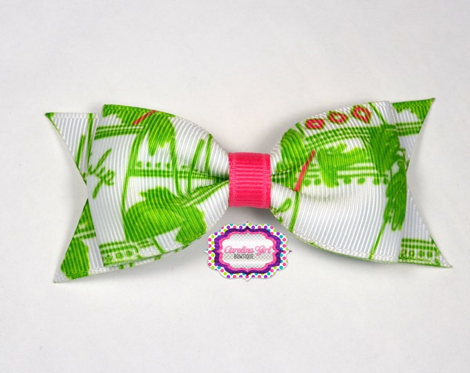 "Just Add Mint Julep ~ 3.5"" Hairbow ~ Lilly Inspired ~ Small Hair Bow ~ Girls Barrette ~ Toddler Bow ~ Hair Clip ~ Girls Hair Bow"