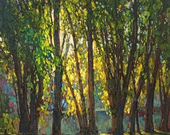 Summer Light - Giclee Fine Art PRINT of Original Painting matted 16x20 by Jan Schmuckal