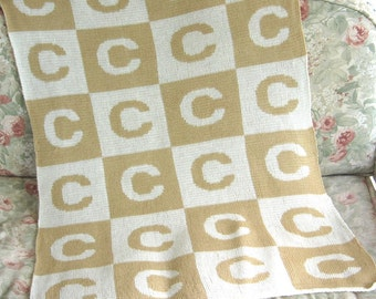 Personalized Block Baby Blanket
