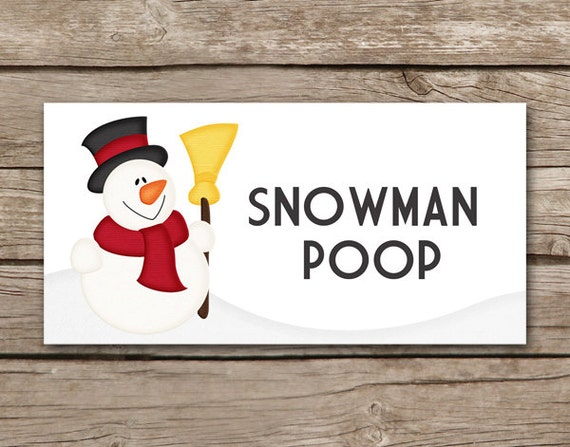 Impeccable image within snowman poop printable bag topper