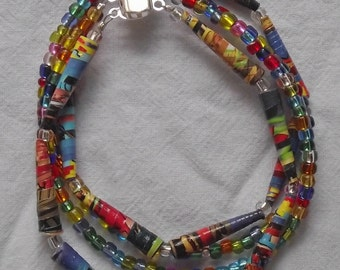 Summer Brights 4-strand beaded bracelet