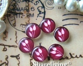 20% OFF SALE - 12mm Photo Glass Cabochon, 8mm 10mm 14mm 16mm 20mm 25mm 30mm Round Rose glass Cabochon - BCH083H