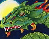 ACEO ATC Dragon Fantasy Original Miniature Painting Art-Carla Smale