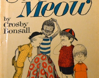Vintage Children's Book The Case of the Cat's Meow by Crosby Bonsall
