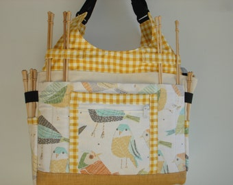 Large Knitting/Crochet Tote Bag-TWITTER