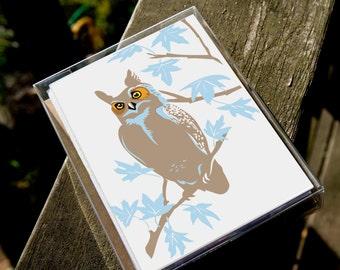 4OWLBOX: Owl Assortment of 4 Cards