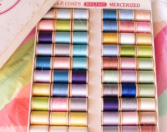 Shades of the Rainbow...Box of Beautiful Vintage Thread Spools