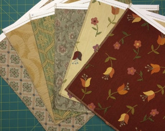 Upholstery fabric samples - prints and solids qty 31