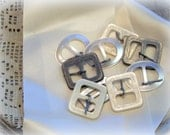Free US shipping, 9 vintage buckles, shell buckles, mother of pearl,