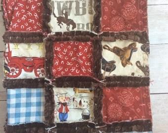 Cowboy Quilt - Little Buckaroo Quilt - Cowboy Baby Bedding - Western Quilt - Western Baby Bedding - Rustic Quilt - Rustic Baby Bedding