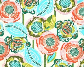 HALF YARD - Amy Butler Fabric, Bright Heart Collection, Coco Bloom in Bisque - SALE