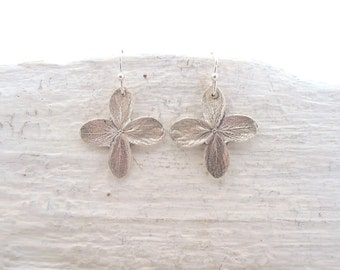 Sterling Silver Hydrangea Earrings