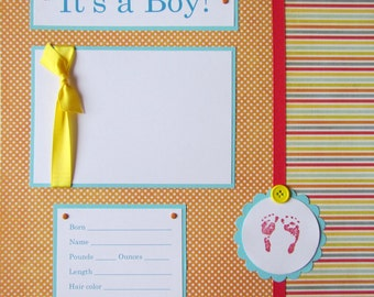 20 BABY BOY Scrapbook Pages for 12x12 FiRsT YeAr ALbUm -- alphabet soup