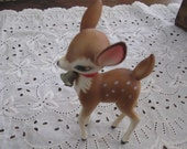 Vintage Hard Plastic Deer Figurine - Christmas Decor