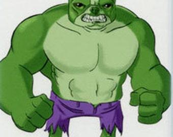 The Incredible Hulk avengers - Boston Terrier magnet