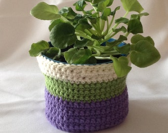 Green Plant Pot Cozy Pot Cover Pot Cozy Plant Pot Cover Home Decor