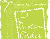 Custom Leaf Pattern Spinner Ring for Melissa