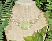 Ethereal Prehnite Necklace - Sterling Silver