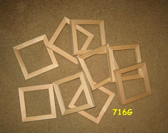 9 unfinished wood 4x4 picture frames (my 716G)