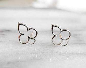 Mehndi Earrings, Tiny Stud Earrings, Hindu Jewelry, Boho Jewelry, Spiritual, Henna, Yogi Earrings, Sterling Silver Hypoallergenic (E269)