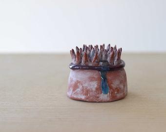 Wall mini sculpture - Coral drip- fine art