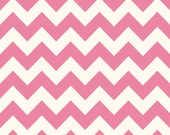 Sale fabric, End of the Year Sale, Fabric by the yard, Chevron fabric, Pink fabric, Pink Medium Chevron, Riley Blake, Choose your cut