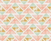 Boho Fabric, Tribal Fabric, Coral fabric, Arizona fabric, April Rhodes, Art Gallery Fabrics- Crystal Arrowheads- Choose the cut