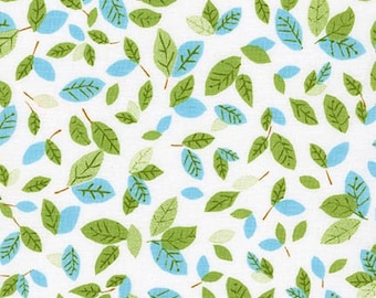 Forest Fellows fabric, Owl fabric, Nature fabric, Robert Kaufman, Leaves in Wild, Cotton fabric by the yard, Free Shipping Available