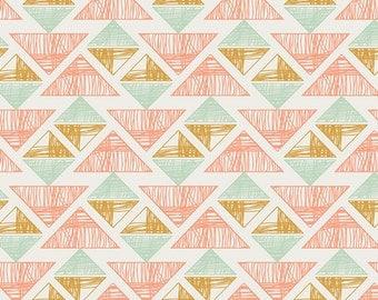Boho Fabric, Tribal Fabric, Coral fabric, Arizona fabric, April Rhodes, Art Gallery Fabric,  Crystal Arrowheads- Choose the cut