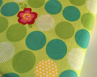 SALE fabric, 6 dollars/yard sale, Green fabric, Moxi in Acid Green by Studio M and Moda fabrics, Choose your cut