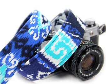 iKat Camera Strap - Boho, Indie, Ikat Royal Camera strap