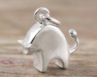 Taurus zodiac pendant in sterling silver - Zodiac necklace, zodiac jewelry, astrology