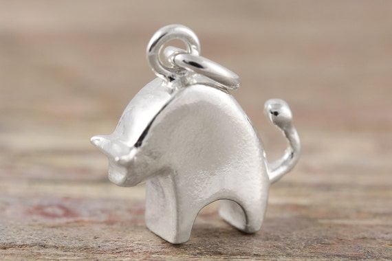 Taurus zodiac pendant in sterling silver - Also available in 10kt, 14kt & 18kt gold