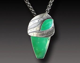 Chrysoprase Sterling Silver Pendant