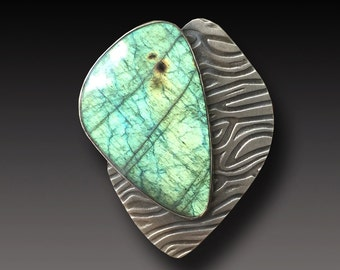 Labradorite  Ring Sterling Silver  One of a Kind Ring