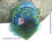 SPRING...handmade lampwork bead by Anastasia...SRA...OOAK...