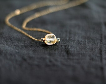 Layering Necklace Solitaire Necklace Golden Rutilated Quartz Vitrine Designs Stacking jewelry