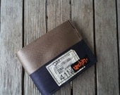 Seat Belt Wallet with change pocket - Mens Wallet - Father's Day Gift - Recycled Wallet