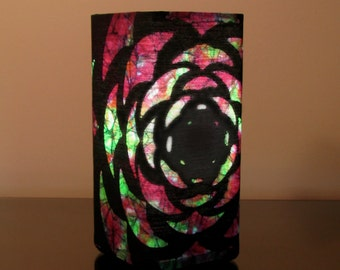 "Batik Accent Lamp ""Dragon Lotus"""