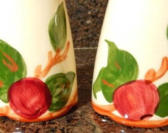 "FRANCISCAN Ware  Apple  * Over Sized Tall Salt & Pepper Shakers * 6""  * Pristine Condition *"