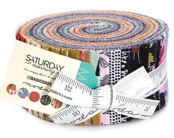 "Moda SATURDAY MORNING Jelly Roll 2.5"" Precut Fabric Quilting Cotton Strips 30440JR"