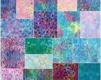 "SQ136 Robert Kaufman To The Point Batiks Precut 5"" Charm Pack Fabric Quilting Cotton Squares Lunn Studios CHS-522-42"
