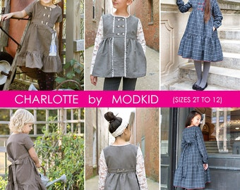 Charlotte Dress and Jacket PDF Downloadable Pattern by MODKID... sizes 2T to 12 Girls included - Instant Download
