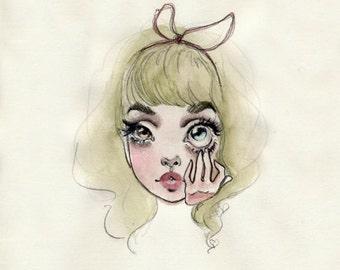Oh my eye original watercolor painting