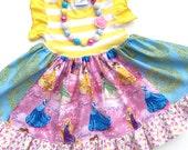 Disney Princess dress Cinderella, Sleeping Beauty, Beauty and the Beast Momi boutique